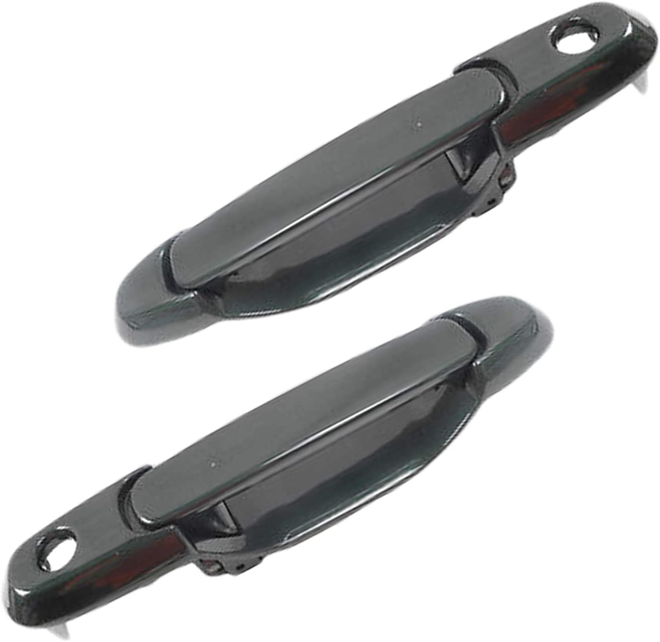 2PCS Pair Exterior Black Front Left /& Right Door Handle For Toyota Sienna 98-03
