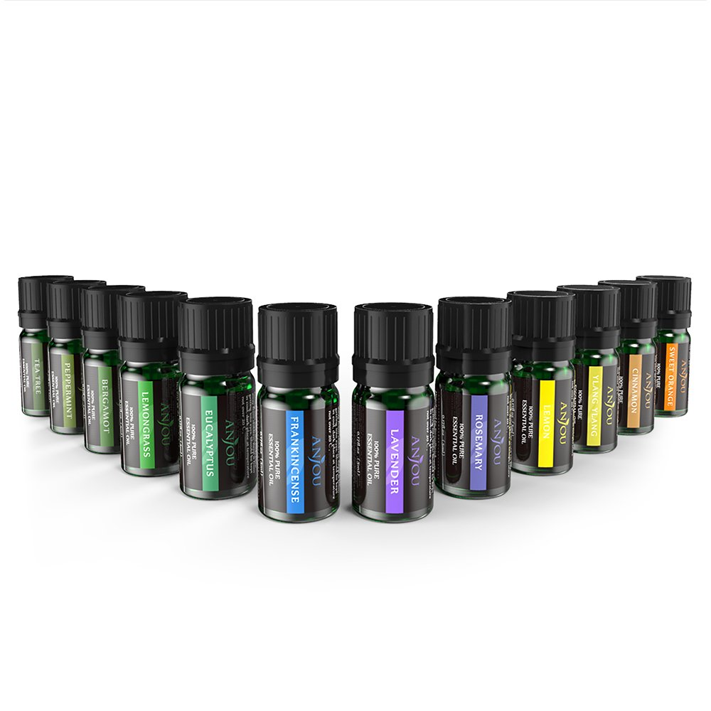 Aceites Esenciales Aromaterapia Anjou 12 Aceites 100% Natural Puro (Lavanda, Naranja Dulce,