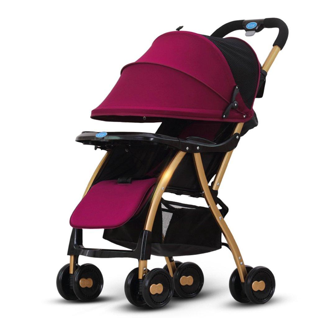 赤ちゃんのベビーカー超軽量折り畳み式リクライニングチェア傘のトロリー(紫色)(青色)65 * 43 * 87cm ( Color : Purple ) B07BTTZNJ4
