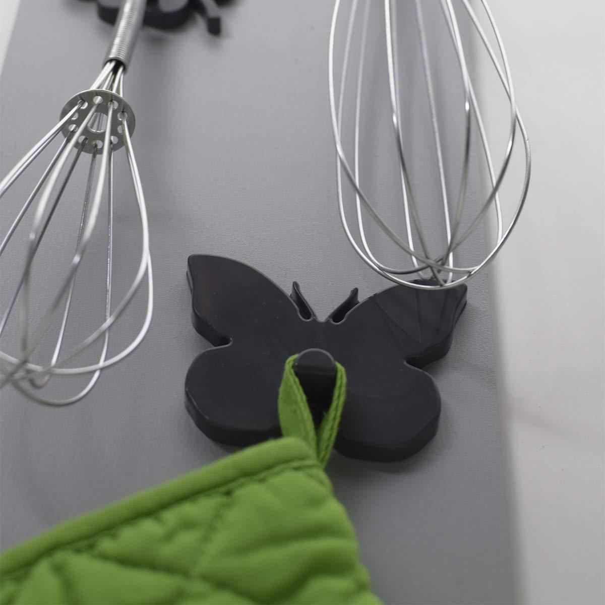 Rot ABS-Harz KalaMitica Schmetterling-Design Magnetische Aufh/änger 7 x 5,1 cm