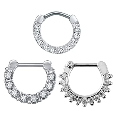 Buy Bodyace 3 Pieces Hoop Nose Rings Stainless Steel Septum Ring