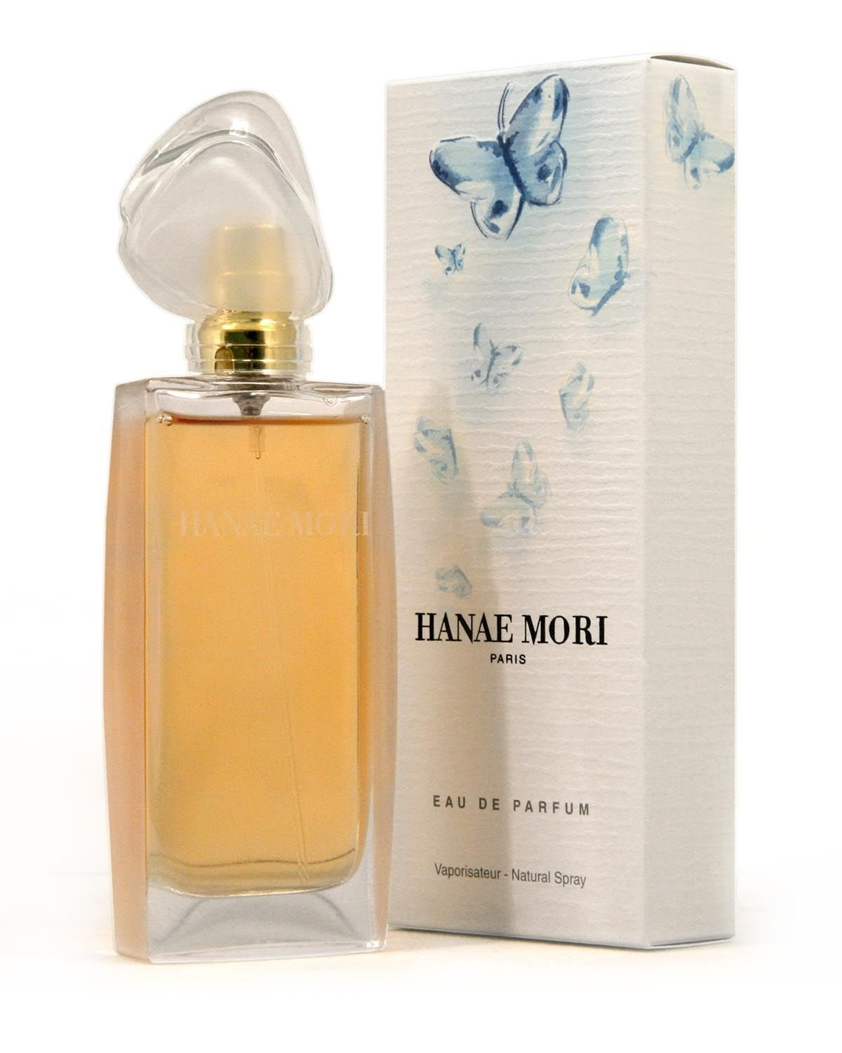 Amazon.com : Hanae Mori EDP Spray for Women, Blue Butterfly, 3.4 ...