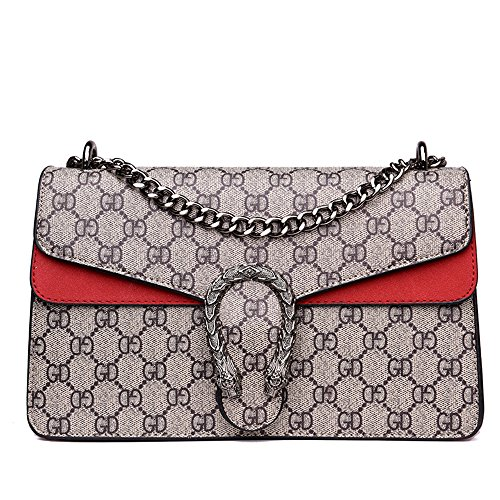 (Women's Fashion Shoulder Bag Ladies Cross-body Bag Girls Chain Handbags Satchel Tote Purse)