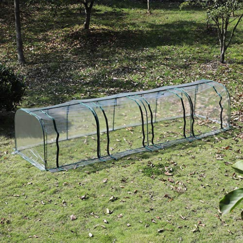 Outsunny 13' L x 3.25' W x 2.5' H PVC Metal Tunnel Cloche Garden Greenhouse Kit by Outsunny (Image #2)