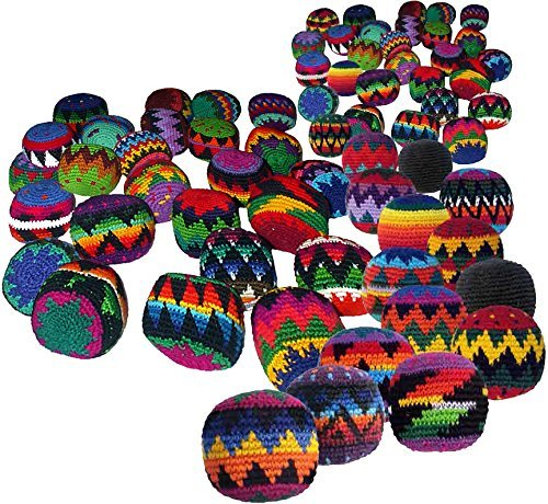Turtle Island Imports 50 Hacky Sacks, Assorted Colors and Designs by Turtle Island Imports (Image #1)