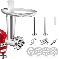 Meat Grinder Attachment for KitchenAid Stand Mixers, Accessories Includes 2 Sausage Stuffer Tubes,2 Grinding Blades,4…