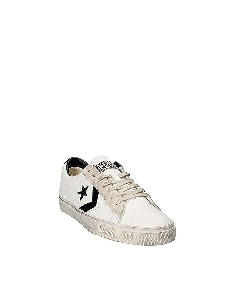 Converse Lifestyle Pro Leather Vulc Distressed Mid, Sneakers Basses Mixte Adulte, Noir (Black/Chocolate Chip 001), 42.5 EU