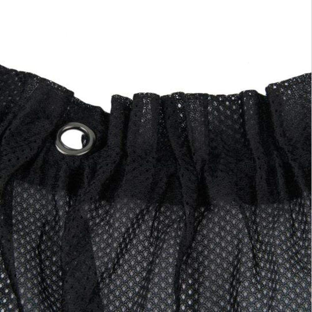 LYJ 2020 HOT Awnings Sommer-Auto-Sonnenschutz-Vorhang Black Side Heckscheibe Autofenster UV-Schutz Mesh Fabric Zubeh/ör LIYANJUN