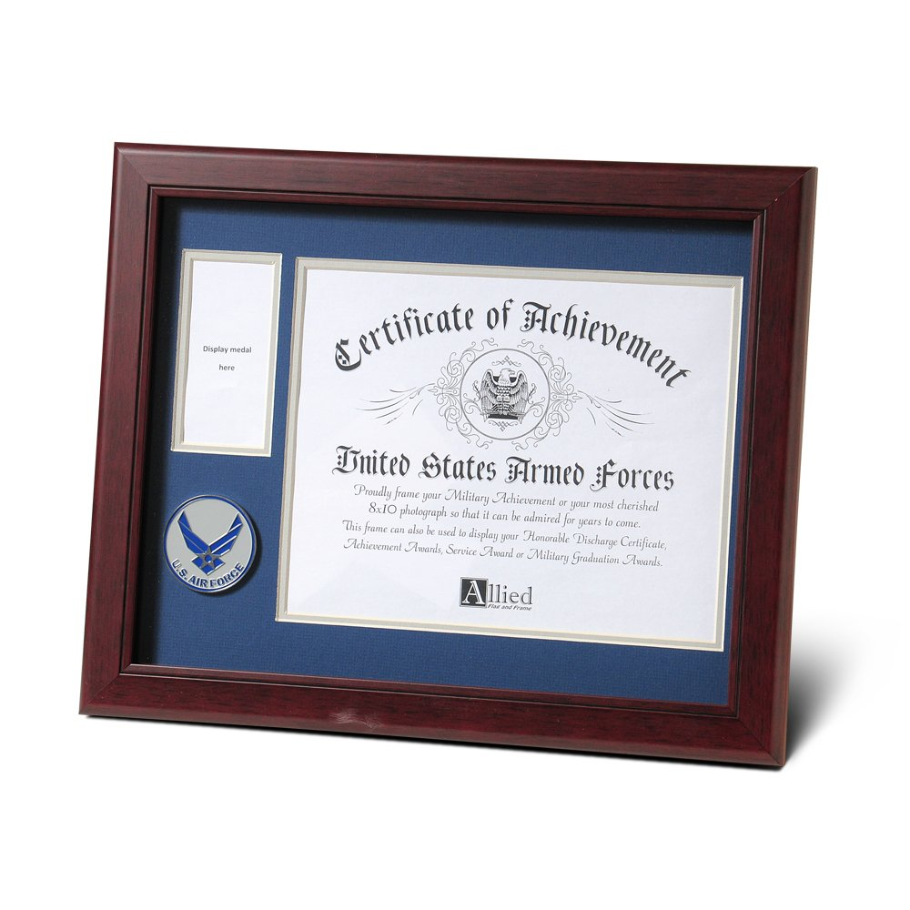 Allied Products Frame Aim High Air Force Medallion Certificate and Medal Frame, 8 by 10-Inch