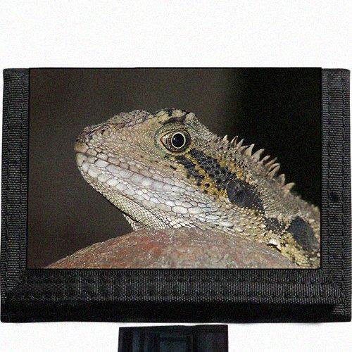 Lizard Black TriFold Nylon Wallet Great Gift Idea