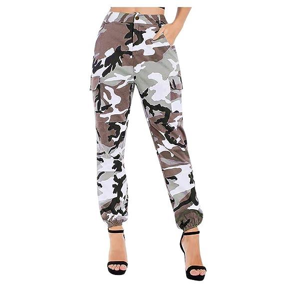 website for discount another chance cute ITISME Jeanshosen 2019 Mode Pas Cher Pantalon Cargo Femmes Camouflage  Automne et Hiver Grand Taille Haute Elastique Camo Cargo Casual Militaire  ArméE ...