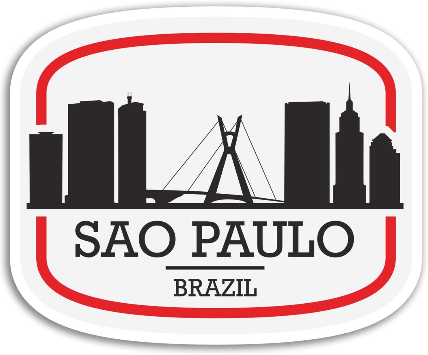 2 x 10cm Sao Paulo Brazil Vinyl Stickers - Travel Sticker Laptop Luggage #17089 (10cm Wide)