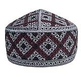 NDA Eid Koofi Muslim Men's Stretchable Kufi Turkey Deep Cut Prayer Cap Muslim Hat (Grey)