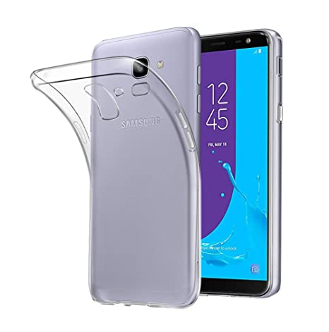hot sales 19f1d b43f7 Samsung Galaxy J6 2018 Case, AVIDET Shock-Absorption Flexible Soft Gel TPU  Silicone Case Cover for Samsung Galaxy J6 2018 (Transparent)