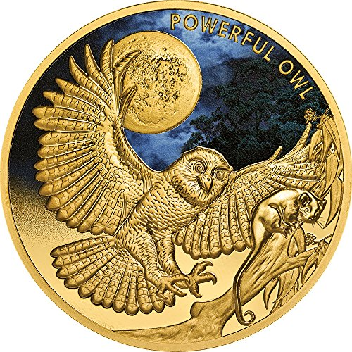 2018 NU Endangered Extinct PowerCoin POWERFUL OWL 1 Oz Gold Coin 100 Niue 2018 (100 Gold Certificate)