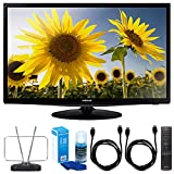 Samsung (UN24H4500) 24-inch HD 720p Smart LED TV Clear Motion Rate 120 w/ TV Cut the Cord Bundle Includes, Durable HDTV and FM Antenna, Universal Screen Cleaner & 2x 6ft High Speed HDMI Cable