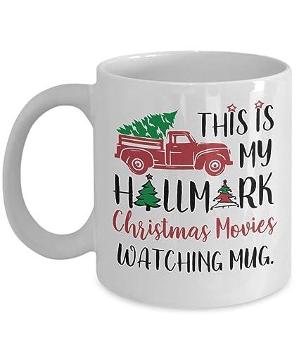 Hallmark Christmas Gift Hallmark Christmas Movies Mug This Is My Watching Funny Santa Coffee Mugs Cup