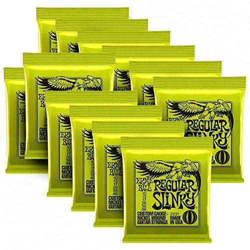 - Ernie Ball 2221 Nickel Regular Slinky Electric Guitar Strings - 5 Pack