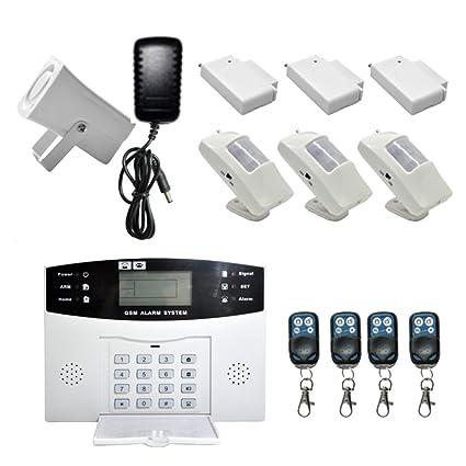 Homyl Inalámbrico GSM SMS Sistema de Seguridad Casa Ladrón ...