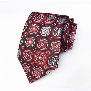 WOXHY Corbata geométrica Azul Blanco Negro Puntos para Hombre ...