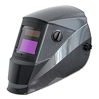 Antra AH6-260-001X Solar Power Auto Darkening Welding Helmet with AntFi X60-2 Wide Shade Range 4/5-9/9-13 with Grinding Feature Extra lens covers Good for TIG MIG MMA Plasma