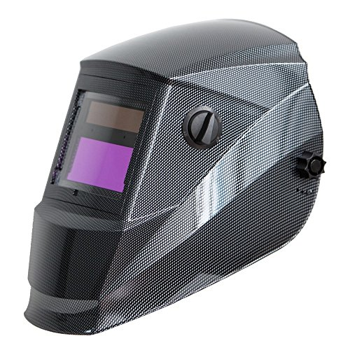 Antra AH6-260-001X Auto Darkening Welding Helmet Wide Shade Range 4/5-9/9-13 Engineered for TIG MIG/MAG MMA Plasma Grinding, Solar-Lithium Dual Power, 6+1 Extra Lens Covers
