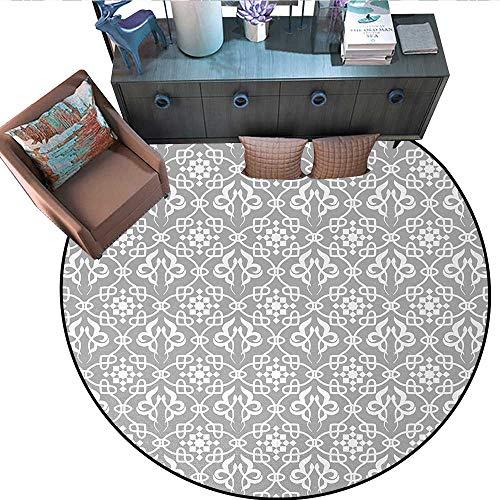 (Irish Circle Rugs Royal Antique Floral Figures Curves Old Fashioned Elegance Ancient Folksy Tile Living Dining Room Bedroom Hallway Office Carpet (75