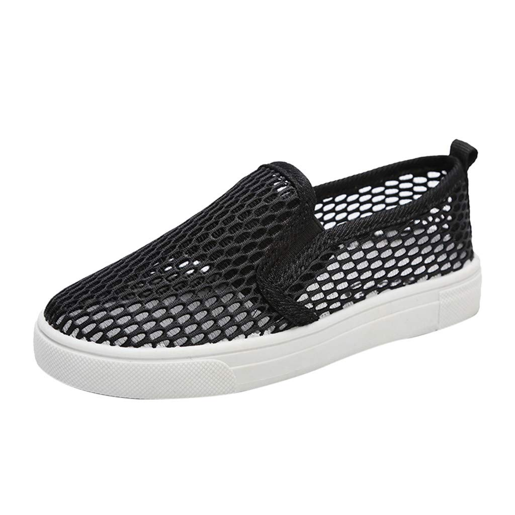 Kids Breathable Mesh Hollow Out Sneakers Casual Anti-Slip Shoes Suma-ma Childrens Fashion Flat Sport Shoes