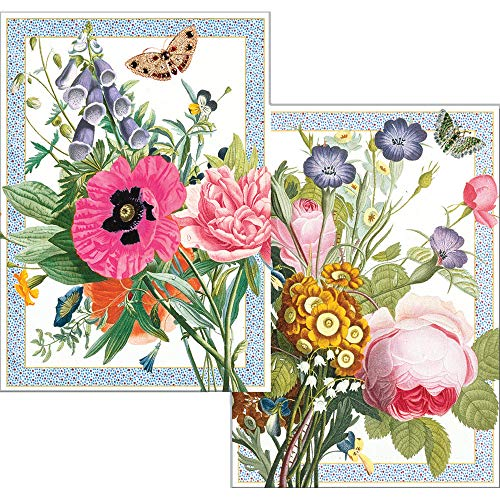Caspari Blossoms and Brooches Blank Boxed Note Cards, 16 Cards & -