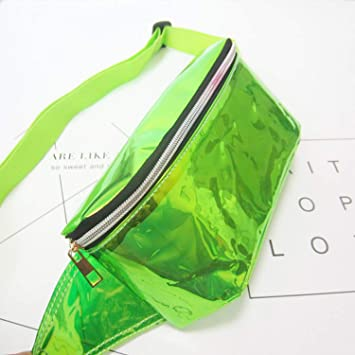 Amazon.com: Liberer Holographic Neon Fanny Pack Transparente ...