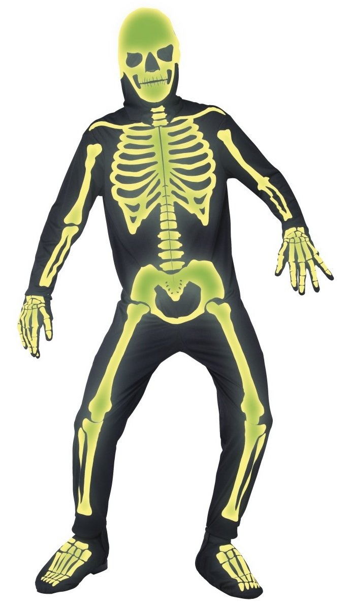Herren Herren Herren Glow in the Dark Spooky Skelett Jumpsuit Halloween Fancy Kleid Kostüm Outfit M-L-XL f2c662