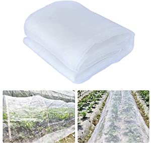 Plant Bug Net 10 x 20Ft - Insect Netting for Garden Plant, Ultra Fine Mesh Cover Protection Netting Bird Barrier for Vegetable Plants Fruits Flowers Crops Greenhouse, Net Cover…