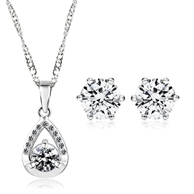 iMing Fashion Earrings Round-Cut Cubic Zirconia Stud Dangle Earrings Jewelry Gift tqh2YyrcO