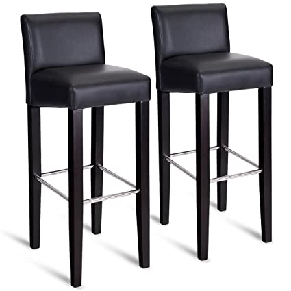 Amazoncom Costway 40 Bar Stool Modern Contemporary Bar Height