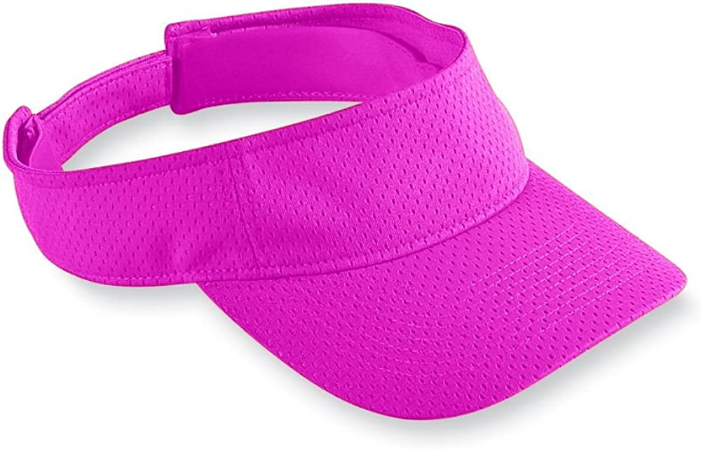 Augusta Sportswear Kids' Athletic MESH Visor OS Power Pink: Clothing
