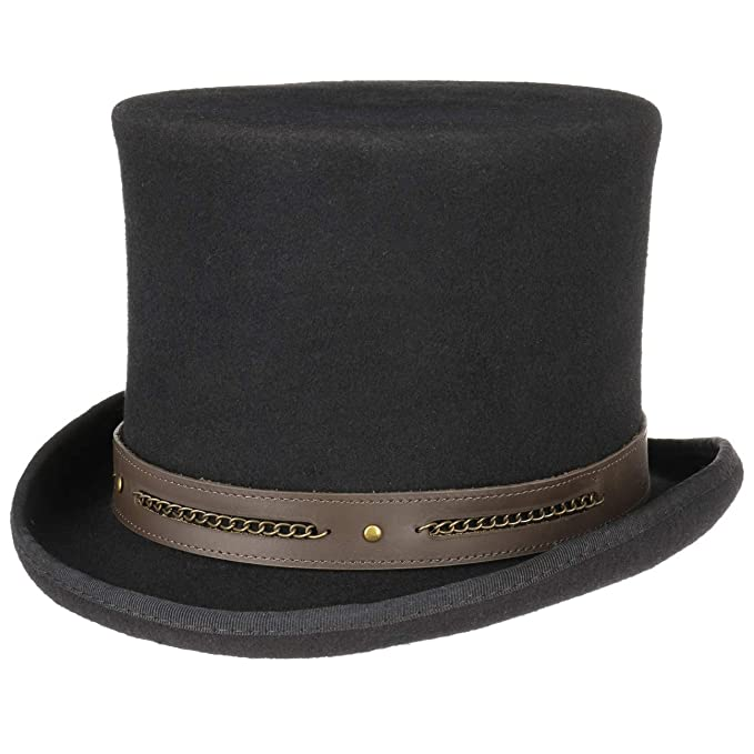 083fe75c077f3e Conner Hats Men's Chain Link Steampunk Top Hat: Amazon.ca: Clothing ...