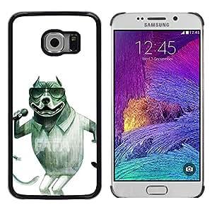 Be Good Phone Accessory // Dura Cáscara cubierta Protectora Caso Carcasa Funda de Protección para Samsung Galaxy S6 EDGE SM-G925 // Singer Sunglasses Pit-Bull Funny