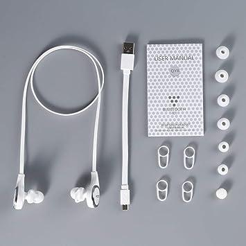 QCY QY8 Estéreo con cancelación de Ruido Auriculares inalámbricos inalámbricos Micrófono Incorporado para música Disfrutando del Ejercicio Haciendo Llamadas ...