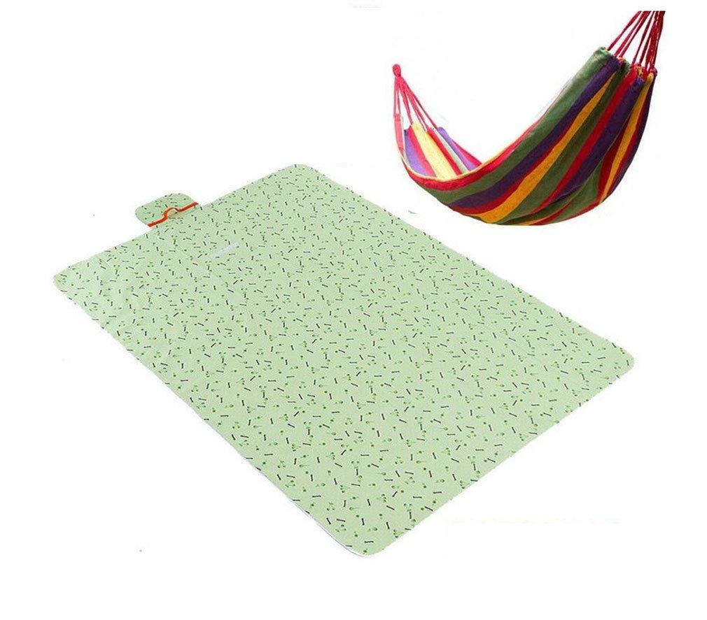 NUO-Z 200 X 150 cm Folding Picknickdecke Wasserdichte Unterstützung Camping Outdoor Beach Festival Teppich Matte,Grün
