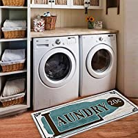 USTIDE Rustic Style Non Skid Floor Mat Laundry Room Mat Wash Room 2x4