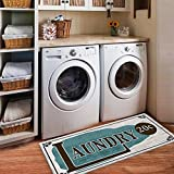 USTIDE Rustic Style Non Skid Floor Mat Laundry Room Mat for Wash Room 2×4