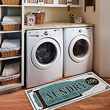 USTIDE Rustic Style Non Skid Floor Mat Laundry Room Mat for Wash Room 2x4