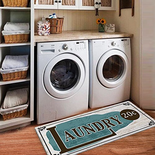 Ustide Laundry Rug Runner Nonslip Rubber Mat Floor Runner Durable Cheap Carpet Waterproof Restaurant Rug