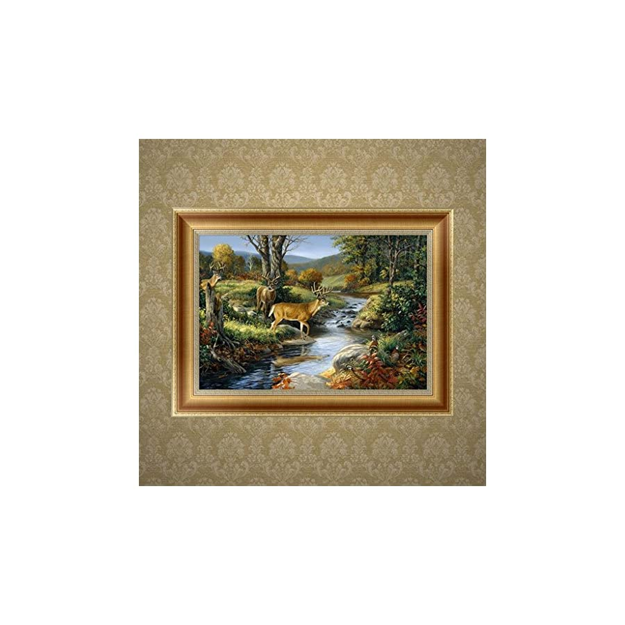 SCASTOE DIY 5D Forest Deer Diamond Embroidery Painting Cross Stitch Craft Home Decor