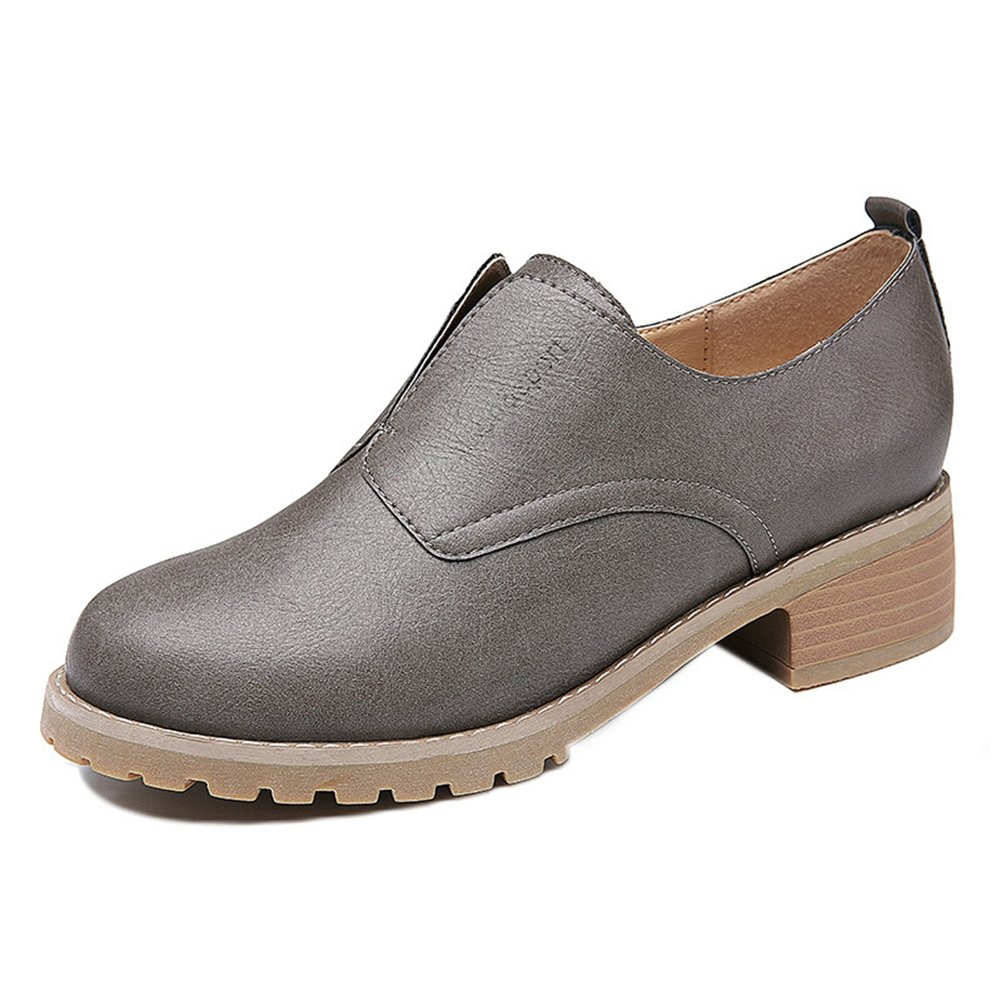 U-MAC Fashion Sneakers for Womens Slip on Loafter Round Toe Low Top Walking Shoe Bootie