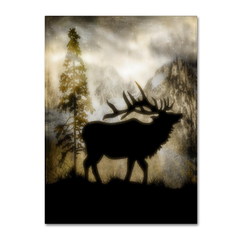 Mystic Elk by LightBoxJournal 24x32-Inch Canvas Wall Art Trademark Global ALI10334-C2432GG