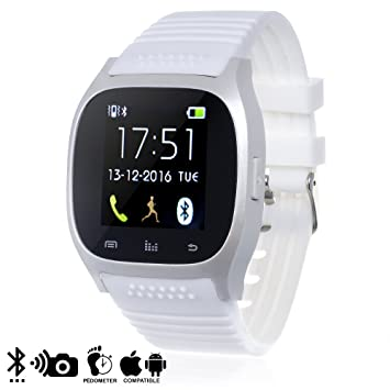 DAM - Smartwatch Timesaphire 2 Bt White, compatible con iOS y Android.