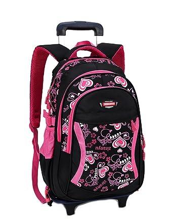222fec05e5 Kids Rolling Backpack Phaedra FU Cute School Backpack With Wheels For Girls  (Black)