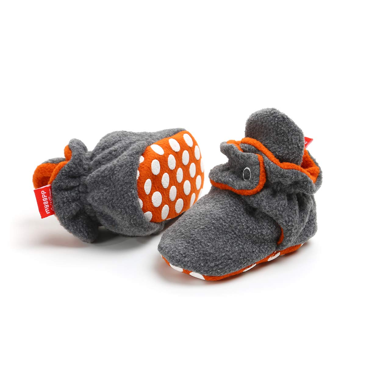 QGAKAGO Baby Girls Boys Fleece Booties Cotton Lining and Soft Sole Shoes