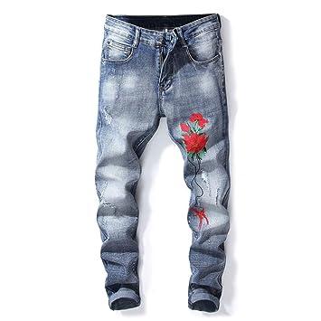 Shuo lan hu wai Los nuevos Pantalones Vaqueros elásticos ...